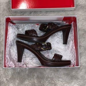 Coach heeled sandals